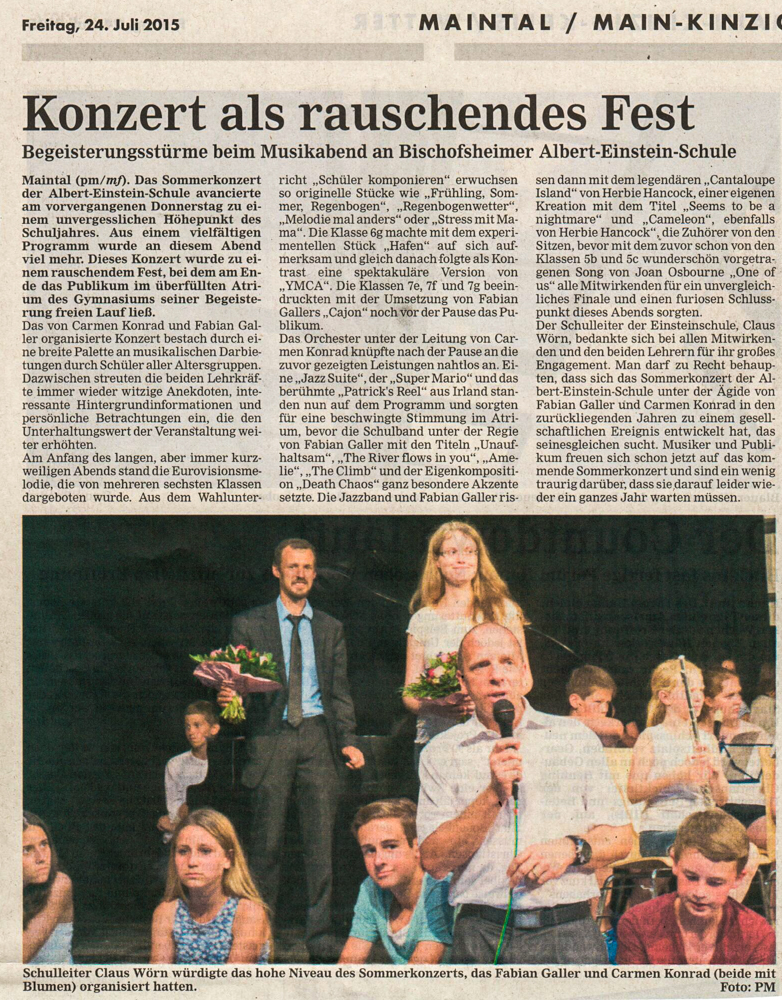 Sommerkonzert, 24.07.2015